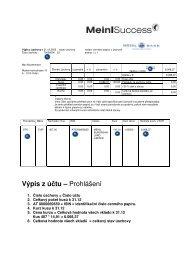Výpis z účtu – Prohlášení - MBI