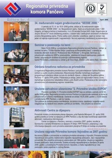 Bilten br. 4 - Regionalna Privredna komora Pančevo