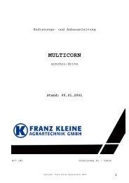MULTICORN - Hjallerup Maskinforretning A/S
