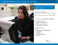 2010 Quick Reference Card — ProSystem fx® Tax (SaaS) - CCH