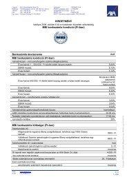 AXA Bankszámla kondíciói - MBI
