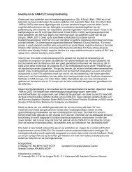 Inleiding tot de CAM-ICU Training Handleiding. Onderzoek ... - VMS