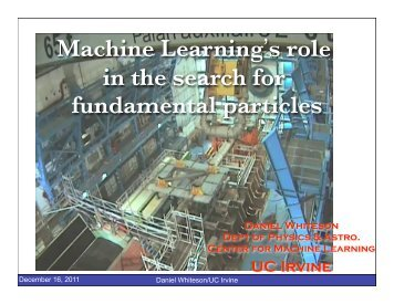 Fundamental particles - Big Learning