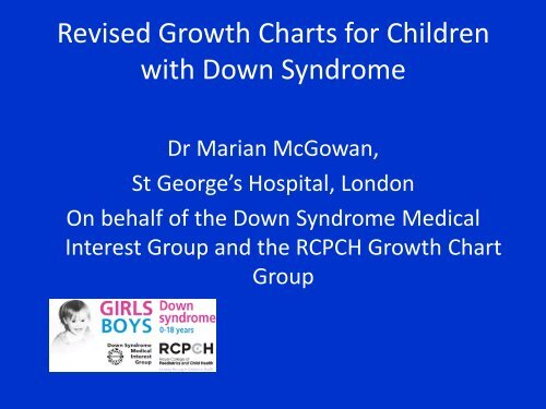 Revised Growth Charts For Children With Down Syndrome