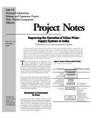 Improving the operation of urban water supply systems in India