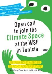 Flyer Climate Space - Global Forest Coalition
