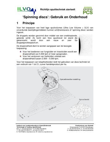 'Spinning discs': Gebruik en Onderhoud 1 Principe - PCS