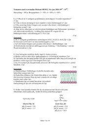 Tentamen med svarsmallar Biokemi BI1032, 14:e jan 2010, 09 - 15 ...
