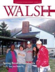 Spring Break in Appalachia - Walsh University