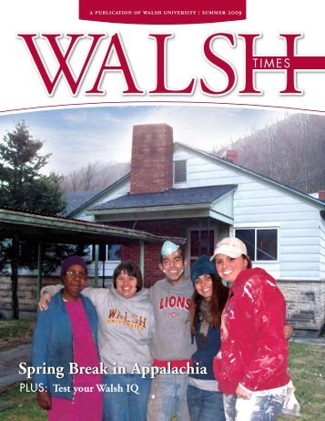 Spring Break in Appalachia - Walsh University