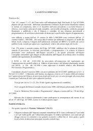 LA GIUNTA COMUNALE Premesso che: l'art. 151, commi 1° e 2 ...