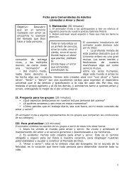 1 Ficha para Comunidades de Adultos Llamados a Amar y Servir I ...