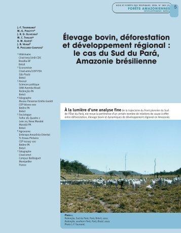 Élevage bovin, déforestation et développement ... - Alice - Embrapa
