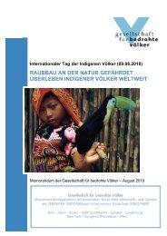 raubbau an der natur gefährdet überleben indigener völker weltweit