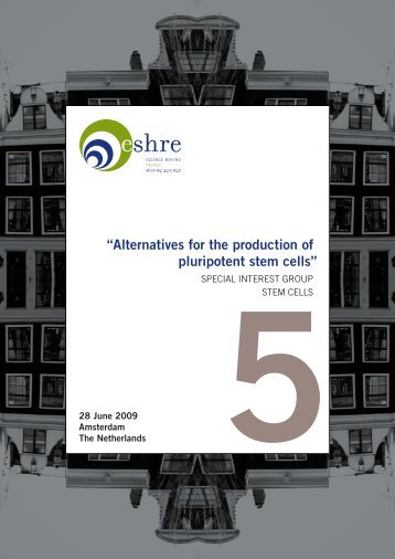 """Alternatives for the production of pluripotent stem cells"" - eshre"