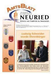 Ludwig Schneider wurde Ehrenbürger - +++ Gemeinde Neuried +++