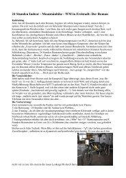 24 Stunden Indoor - Mountainbike - WM in Freistadt: Der Roman