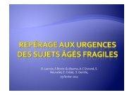Repérage aux urgences des sujets âgés fragiles ... - SMUR BMPM