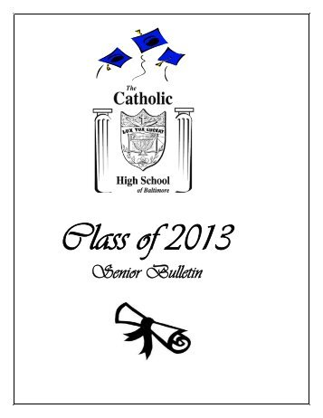 Senior Bulletin - The Catholic High School of Baltimore