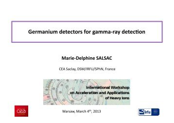 Germanium detectors for gamma-‐ray detecRon