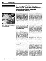Bewertung und Rechtfertigung von Wissenschaft in ... - Das ZWM