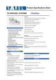 Filter Fan System Data sheey - Schneider Electric
