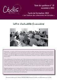 lettre d'actualités financières n°10 - Cédis Formation