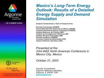 Reference Case - Argonne National Laboratory