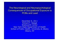 The Neurological and Neuropsychological Consequences of ...