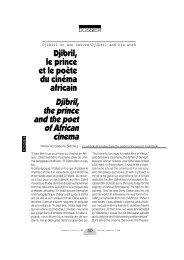 Djibril, le prince et le poète du cinéma africain Djibril ... - Africultures