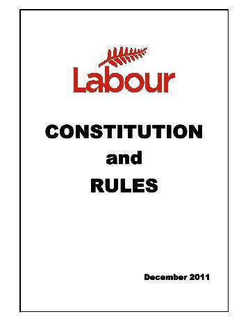 CONSTITUTION and RULES - Labour Party