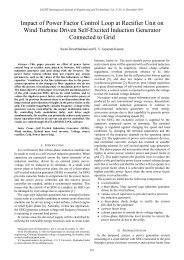Impact of Power Factor Control Loop at Rectifier Unit on Wind ... - IJET