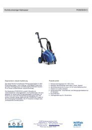 Produktdatenblatt mit Vergleichs - Robe Reinigungsmaschinen GmbH