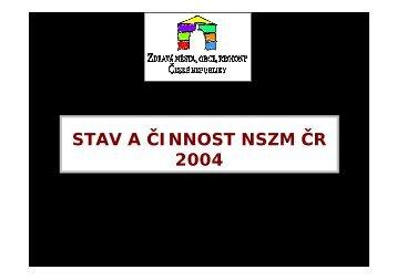 STAV A ČINNOST NSZM ČR 2004 - Národní síť Zdravých měst ČR