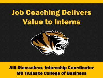Job Coaching Delivers Value to Interns