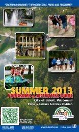 Summer Program Guide 2013 - the City of Beloit