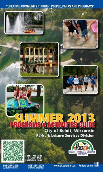 Summer Program Guide 2013 - the City of Beloit