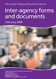 Inter-agency forms and documents - Newcastle City Council