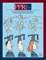 Volume V Issue 1 - Penn Political Review