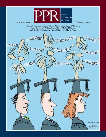 Volume V Issue 1 - Penn Political Review