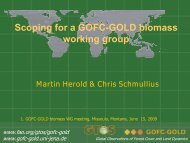 Scoping for a GOFC-GOLD biomass working group Martin Herold ...