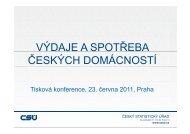 výdaje a spotřeba českých domácností - Český statistický úřad
