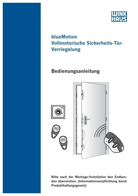 blueMotion Vollmotorische Sicherheits-Tür- Verriegelung ...
