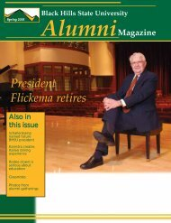 Alumni News - Black Hills State University