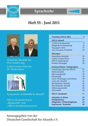 Sprachrohr Heft 55 - Juni 2011 - DAGA 2012