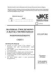 MATERIAŁ ĆWICZENIOWY Z JĘZYKA NIEMIECKIEGO - Polska
