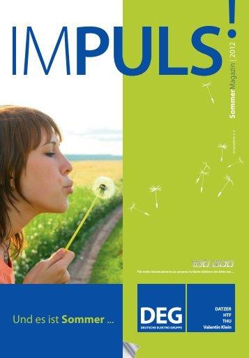 IMPULS! Sommer Magazin 2012 - Deutsche Elektro Gruppe