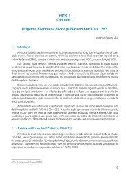 Parte 1 Capítulo 1 Origem e história da dívida ... - Tesouro Nacional