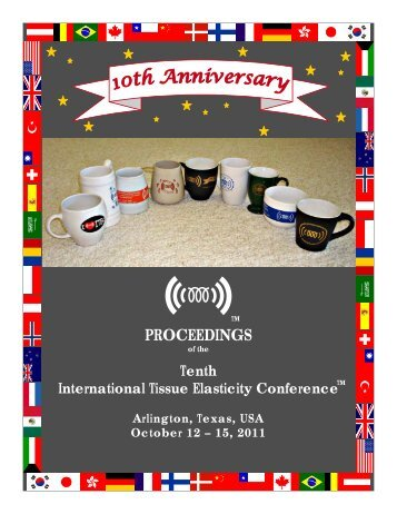 PROCEEDINGS - International Tissue Elasticity Conference