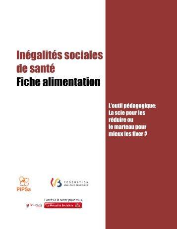 Inégalités sociales de santé Fiche alimentation - Pipsa